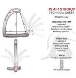 Stijgbeugels Air Jin Stirrup Coppia Design Nero_