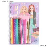 TOPModel kleurboek met kleurpotloden_