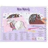 Miss Melody glitter Doodle Book met stiften_