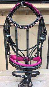 Hoofdstel Flamingo Zwart - roze