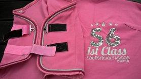 Fleecedeken Horka Sequin roze