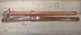 Bruine Hondenriem 4cm breed maat XL