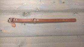 Bruine Hondenriem 2,5cm breed maat S