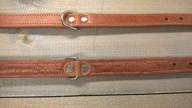 Bruine Hondenriem 2,5cm breed maat M