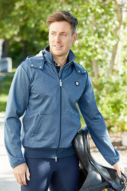 Heren softshell jas Tylor blauw