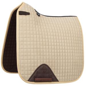 LeMieux Luxury Dressage Suede squares: Beige