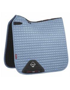 LeMieux Luxury Dressage Suede squares: Ice Blue