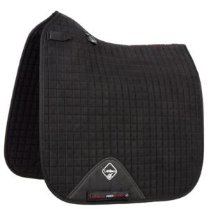 LeMieux Luxury Dressage Suede squares: Black