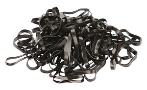 Siliconen elastiekjes Kerbl zwart en wit