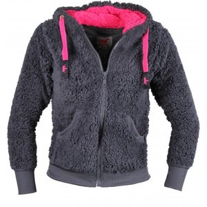 Fluffy vest RH antraciet