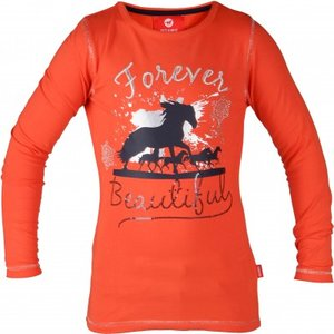 Longsleeve Red Horse Flash Oranje