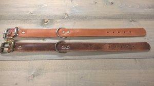 Bruine Hondenriem 4cm breed maat L
