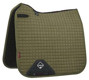 LeMieux Luxury Dressage Suede squares: Olive