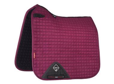 LeMieux Luxury Dressage Suede squares: Plum