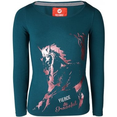 Shirt Red Horse Grande Teal