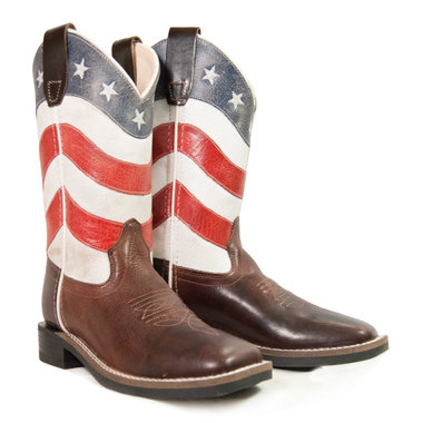 Westernlaarzen Old West American Flag Youngster