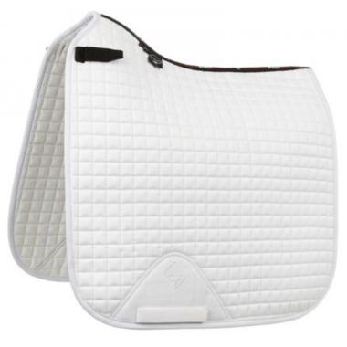 LeMieux Luxury Dressage Suede squares: Wit