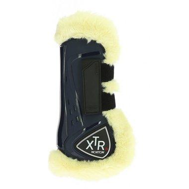 Peesbeschermers met bont XTR Blauw