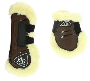Peesbeschermers + strijklappen met bont XTR Bruin