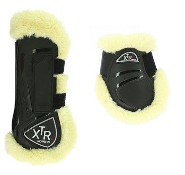 Peesbeschermers + strijklappen met bont XTR Zwart