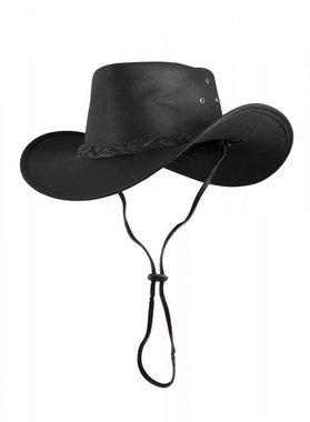 Leren hoed