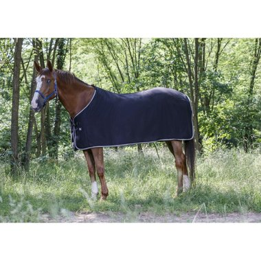 Fleece deken Riding World zwart