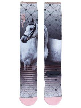 Stapp Horse Print sokken White horse
