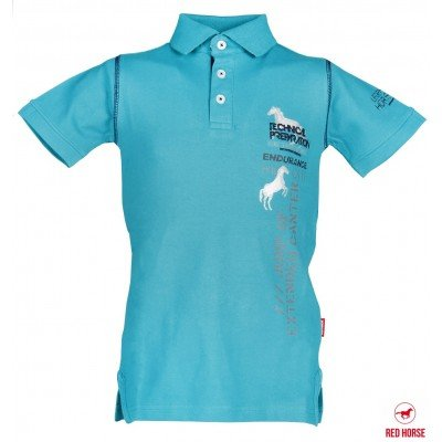 Jongens polo Red Horse Tropical green