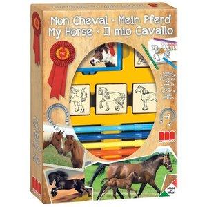 Stempelset Paarden; 12 delig