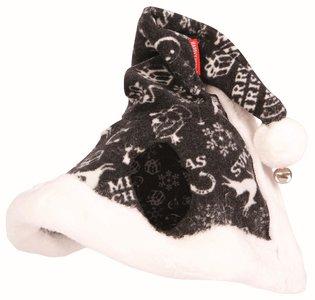 Kerstmuts zwart met bel