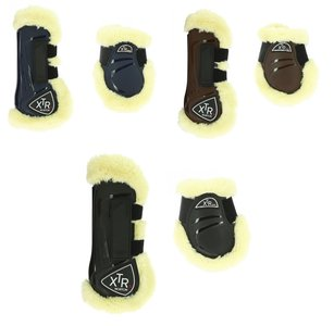 Peesbeschermers / strijklappen met bont XTR klittenband