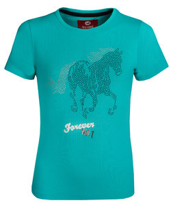 Red Horse T-shirt met print Emerald