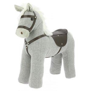 Equikids Staande Pluche Paard met zadel