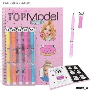 TOPModel kleurboek met viltstiften CANDY CAKE