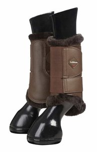 LeMieux Fleece lined Brushing boots Brown-Brown