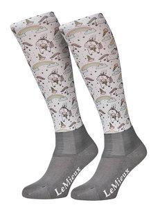 LeMieux Footsie Socks Unicorn Rainbows