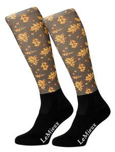 LeMieux Footsie Socks Oak Leaves
