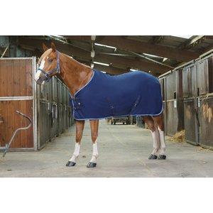 Fleece deken Riding World buiksingels blauw